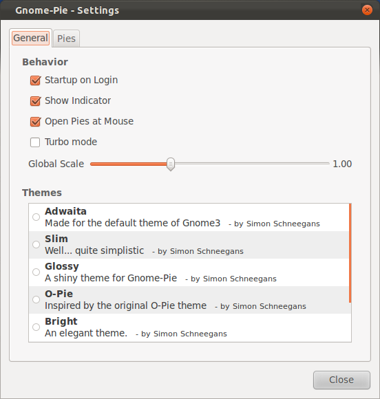 gnome pie stting Gnome Pie: Awesome circular application launcher on ubuntu 11.10 Oneiric Ocelot