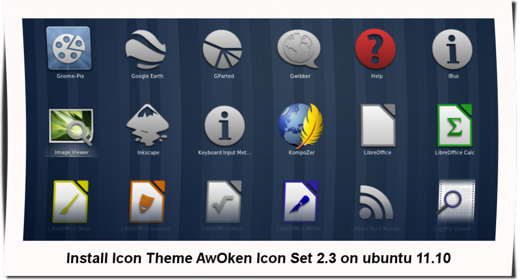 awoken icon set 2.3 gnome shell 1024x552 Install Icon Theme AwOken Icon Set 2.3 on ubuntu 11.10