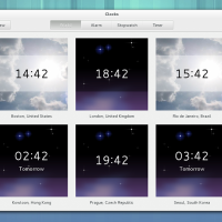 Gnome 3.8 Clocks