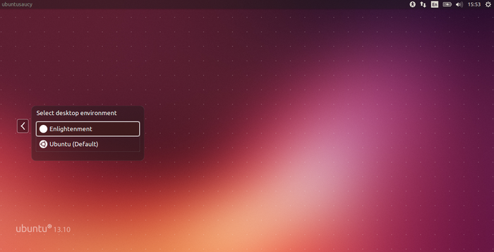 Select Enlightenment DE How to Add the Enlightenment 17 Desktop to Ubuntu 13.10
