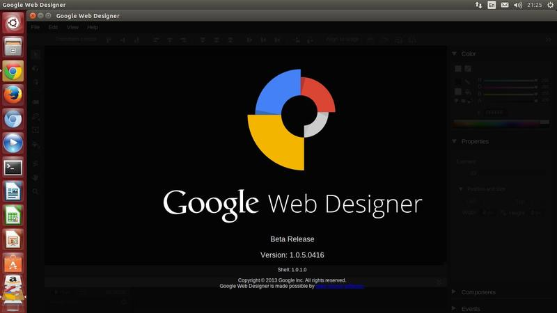 Google Web Designer Available for Linux : Install it on