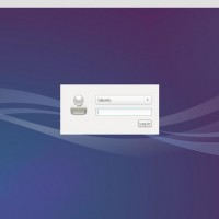 lubuntu 14-04 log in screen