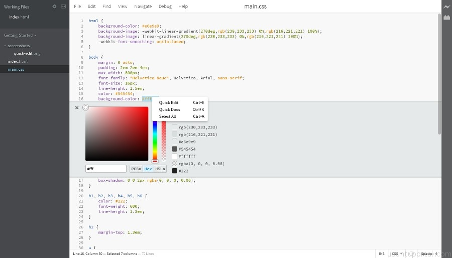 Brackets Free And Open Source Editor For Web Designers