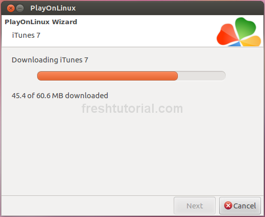 3 - Downloading itunes via playonlinux
