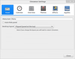 Cinnamon Settings Cinammon 1.2 300x238 Cinnamon 1.2: The New Desktop Environment for Linux has been Release comes with 7 Key Additions and Changes