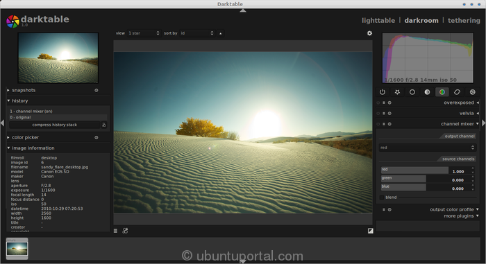 Darktable screenshot Darktable : Open Source Photography Apps and RAW Photo Editor