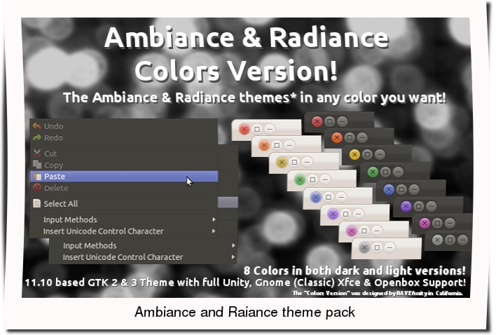 Install Ambiance And Radiance Themes With 8 Different Colors