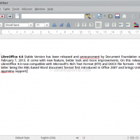 LibreOffice 4.0 Writer on ubuntu