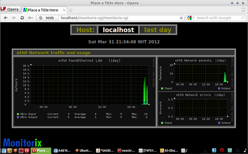 Monitorix Network traffic and usage Monitorix : Lightweight System Monitoring Tool Run Under Apache