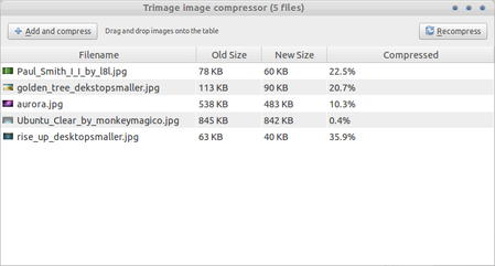 Trimage image compressor