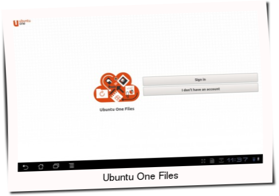 Ubuntu One Files App has been update for Android OS