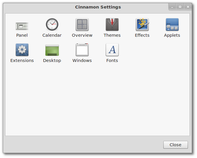 cinnamon settings cinnamon 1.3 Cinnamon 1.3 Released : Comes With New Look and Includes the GNOME Tweak Tool features