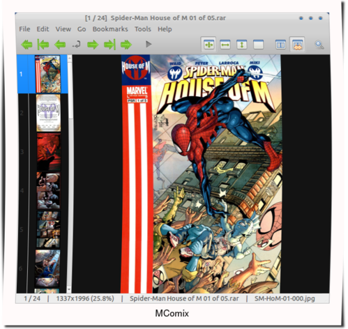 mcomic on ubuntu 12.04 ubuntu 11.10 MComix: User Friendly Comic Book Reader