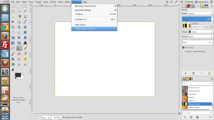 single window mode in gimp 2.8 ubuntu precise Image Editor Apps GIMP 2.8 Released Come With Single Window Mode