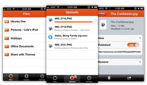 ubuntu one file app for iOS iPad iPhone Ubuntu One Files App Now Support for iOS and Ready for Download in the Apple App Store